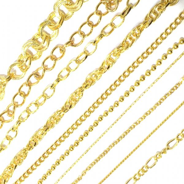 Gold plated chains